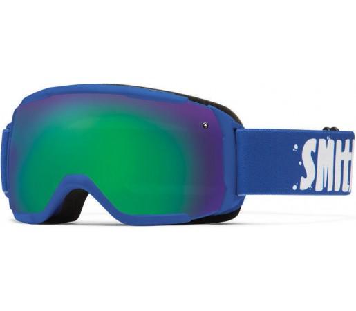 Ochelari Schi si Snowboard Smith Grom Cobalt / Green Sol-X mirror