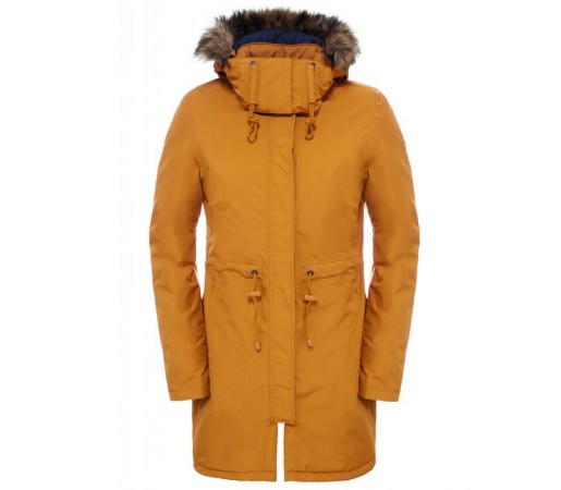 Geaca The North Face W Zaneck Parka Galbena