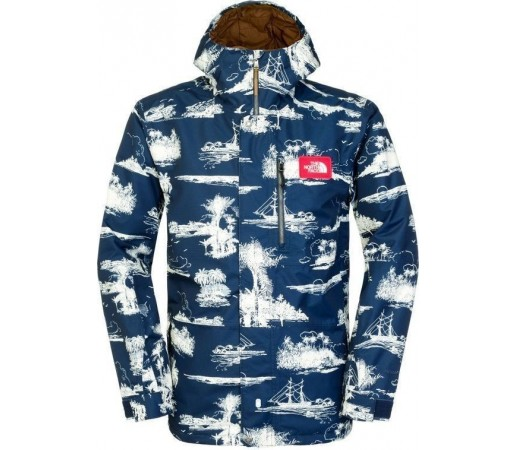 Geaca The North Face M Dubs Insulated Blue Island Print