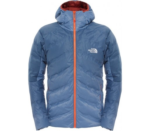 Geaca The North Face M Fuseform Dot Matrix Hooded Down Albastra/Portocalie
