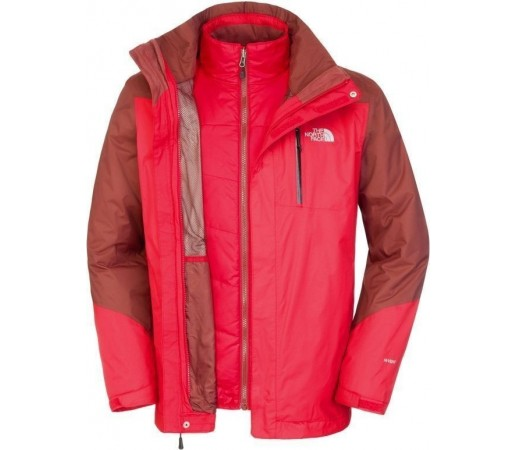 Geaca The North Face Solaris Triclimate Red/Brown