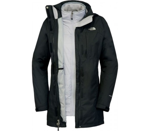 Geaca The North Face W Solaris Triclimate Parka Black/Grey