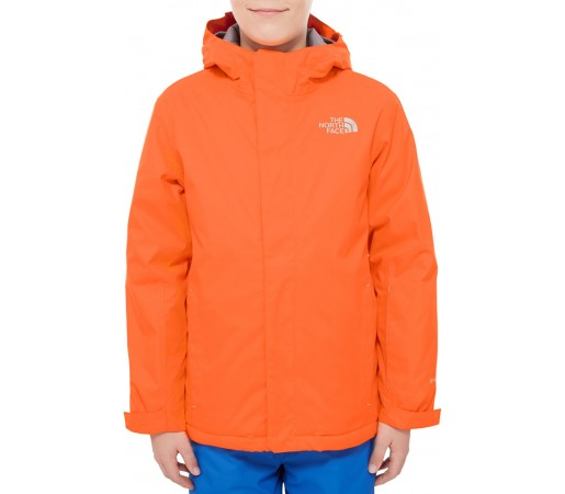 Geaca schi si snowboard The North Face Y Snowquest Portocalie