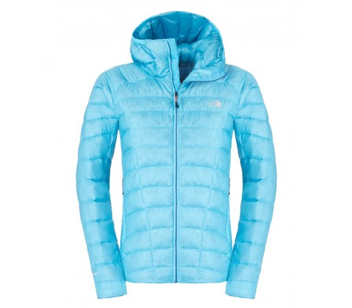 Geaca The North Face W Quince Pro Hooded Albastru Turcoaz