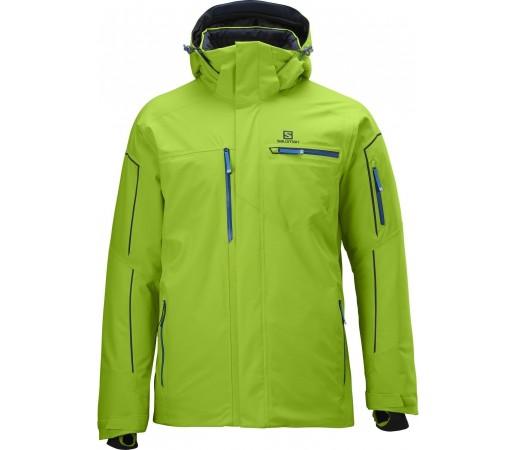 Geaca Ski Salomon Brillant M Organic Green