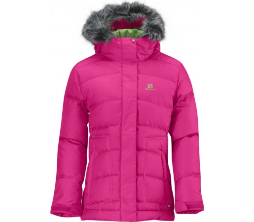 Geaca Ski  Salomon Electra JR Hot Pink