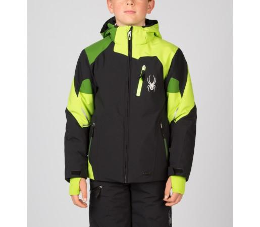 Geaca Schi si Snowboard Spyder Boys Leader Negru/Verde