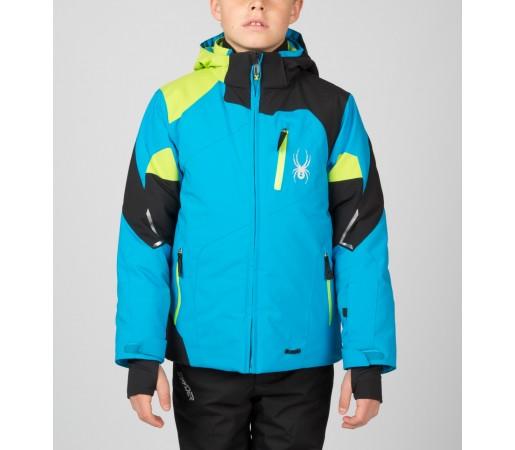 Geaca Schi si Snowboard Spyder Boys Leader Albastru/Negru/Verde