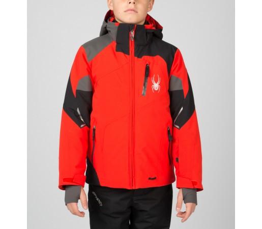 Geaca Schi si Snowboard Spyder Boys Leader Rosu/Negru/Gri