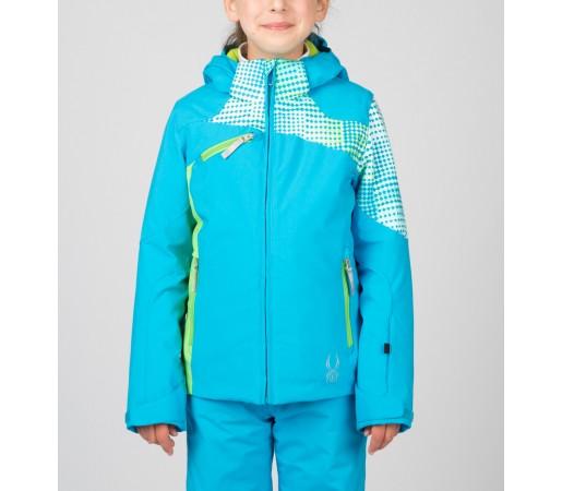 Geaca Schi si Snowboard Spyder Girls Project Albastru/Verde