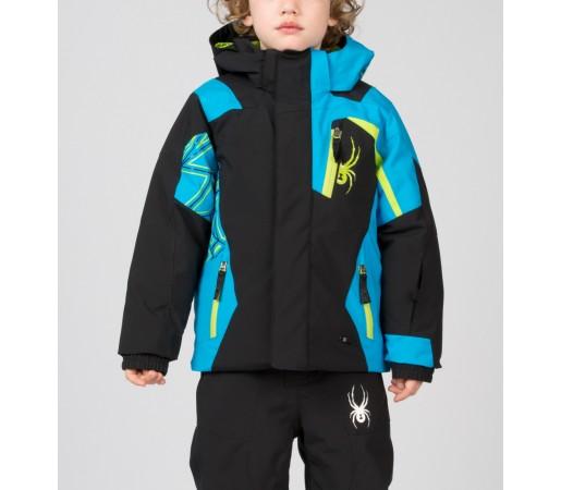 Geaca Schi si Snowboard Spyder Mini Challenger Negru/Albastru/Verde