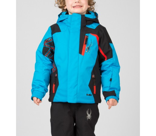 Geaca Schi si Snowboard Spyder Mini Challenger Albastru/Negru/Rosu