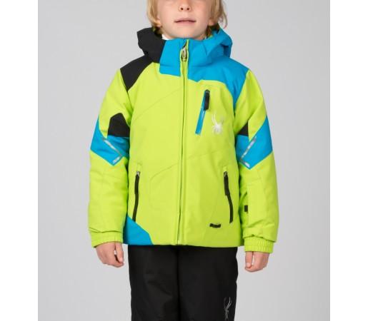 Geaca Schi si Snowboard Spyder Mini Leader Verde/Albastru/Negru