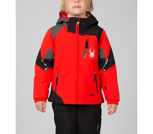 Geaca Schi si Snowboard Spyder Mini Leader Rosu/Negru/Gri
