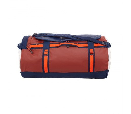 Geanta The North Face Base Camp Duffel L Rosu/Portocaliu