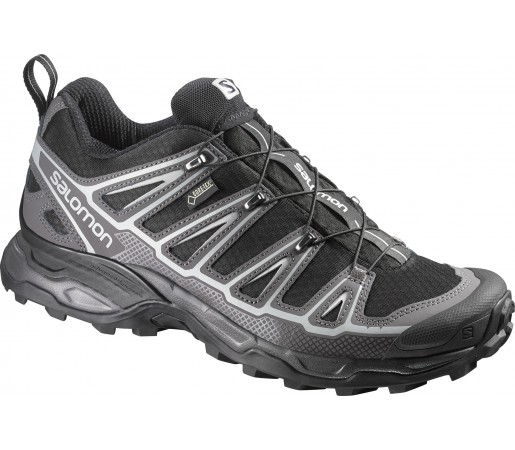 Incaltaminte Hiking Salomon X Ultra 2 Spikes Gore-Tex Gri/Negru