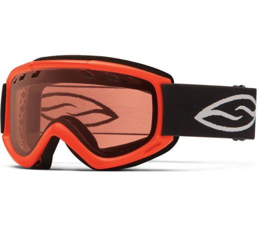 Ochelari Schi si Snowboard Smith CASCADE AIR Neon Orange/ Gold Lite
