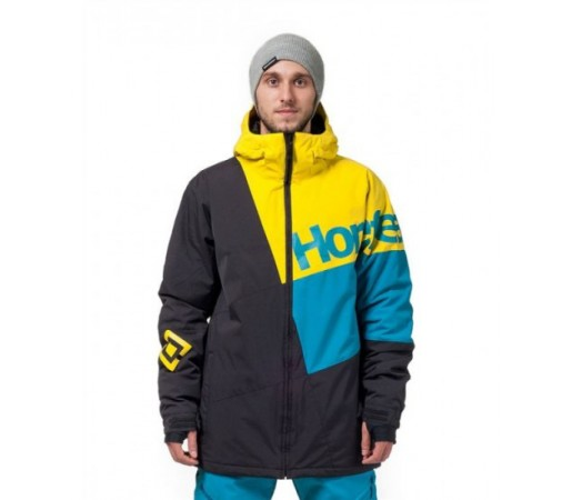 Geaca schi si snowboard Horsefeathers Pursuit Galbena/ Neagra