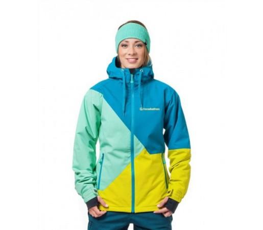 Geaca schi si snowboard Horsefeathers Veronika Verde/ Albastra