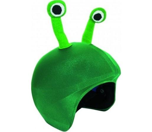Husa amuzanta casca Coolcasc Alien Verde