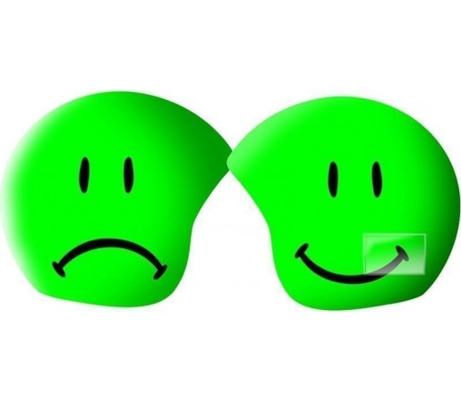 Husa amuzanta casca Coolcasc Foggy Smile Verde
