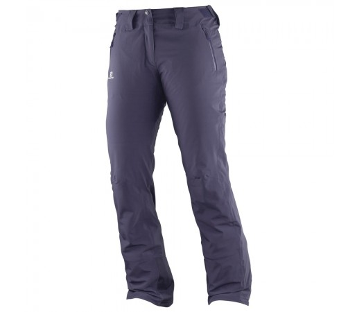 Pantaloni schi si snowboard Salomon Iceglory Pant W Gri