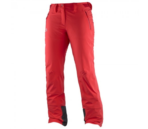 Pantaloni schi si snowboard Salomon Iceglory Pant W Rosii