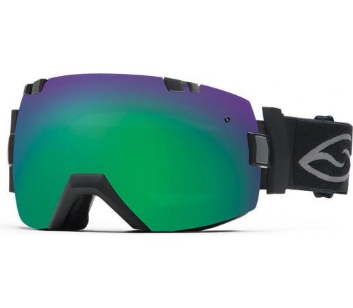 Ochelari de schi si snowboard Smith I/OX Black/Green Sol-X Mirror
