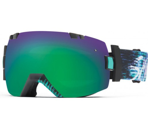 Ochelari de schi si snowboard Smith I/OX Poolside Palms/Green Sol-X Mirror