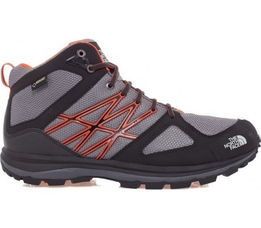 Incaltaminte The North Face M Litewave Mid Gtx Gri/Portocalie