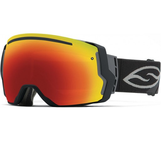 Ochelari Schi si Snowboard Smith I/O SEVEN Black/Red Sol-X mirror