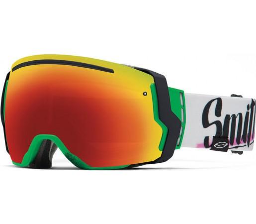 Ochelari Schi si Snowboard Smith I/O SEVEN Neon Baron Von Fancy /Red Sol-X mirror