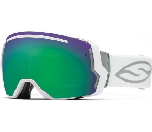Ochelari Schi si Snowboard Smith I/O SEVEN White/ Green Sol-X mirror