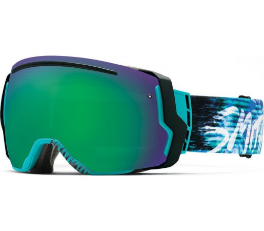 Ochelari Schi si Snowboard Smith I/O SEVEN Poolside Palms/ Green Sol-X mirror