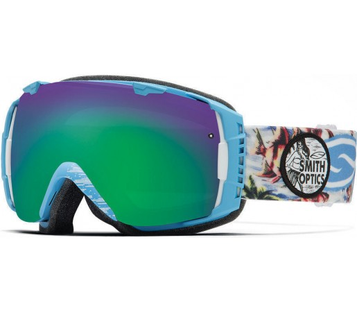 Ochelari Schi si Snowboard Smith I/O Blue Burnout/Green Sol-X mirror