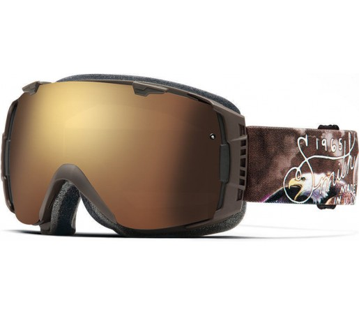 Ochelari Schi si Snowboard Smith I/O Screaming Eagle/Gold Sol-X mirror