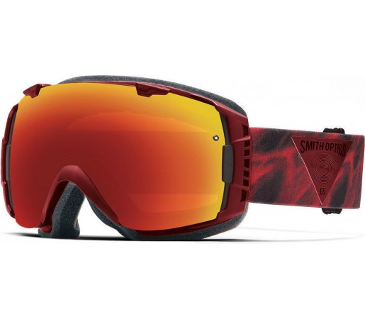 Ochelari Schi si Snowboard Smith I/O Fire Insomniac/Red Sol-X mirror