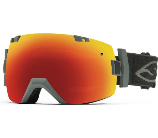 Ochelari Schi si Snowboard Smith I/OX Charcoal/Red SOL-X mirror