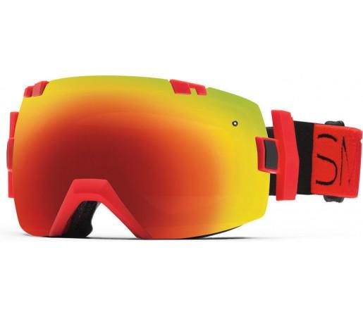Ochelari Schi si Snowboard Smith I/OX Fire Block/Red Sol-X mirror