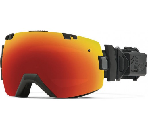 Ochelari Schi si Snowboard Smith I/OX Turbo Fan Black / Red Sol-X mirror