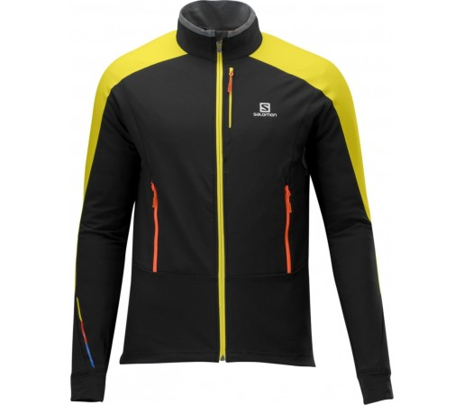 Jacheta Salomon MOMEMTUM SOFTSHELL BLACK/YELLOW
