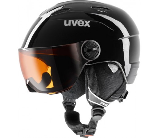 Casca Schi si Snowboard Uvex Junior Visor Neagra