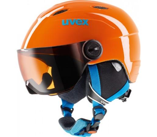 Casca Schi si Snowboard Uvex Junior Visor Portocalie