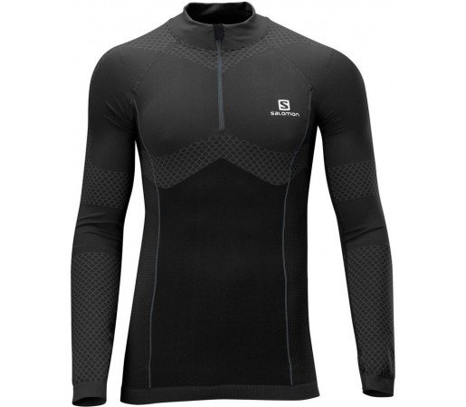 First Layer Salomon EXO Motion LS Zip M Negru
