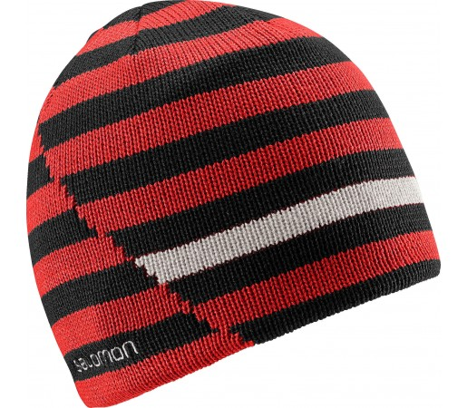 Caciula Salomon Stripe Beanie Reversible Red