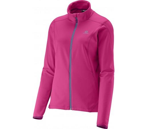 Bluza Salomon Discovery FZ Midlayer W Pink