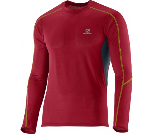 First Layer Salomon Trail Runner Ls Tee M Red