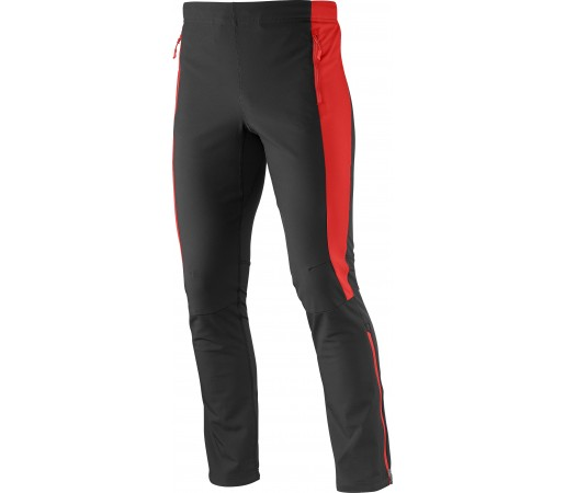 Pantaloni Salomon Momentum Softshell M Black- Red