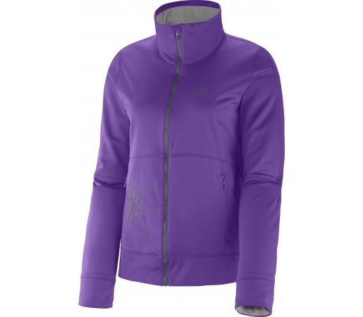 Mid Layer Salomon Cruz Fz 2 W Purple