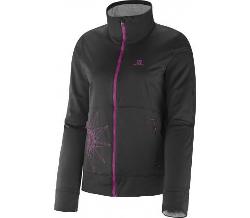 Mid Layer Salomon Cruz Fz 2 W Black